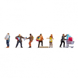 6 personnages au supermarché - HO 1/87 - NOCH 15519