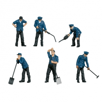 6 Ouvriers de la DB en Laiton - Echelle 1  1/32 - MARKLIN 56406