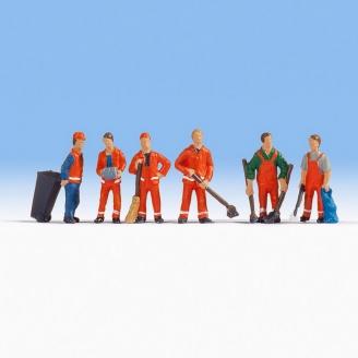 6 ouvriers municipaux - N 1/160-NOCH 36029