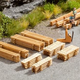 4 x 2 Piles de planches - N 1/160 - NOCH 14628