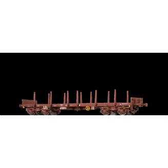 Wagon plat à bucher REMMS Sncf, Ep V -HO 1/87- BRAWA 47120