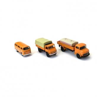 Coffret de 3 véhicules de travaux-HO 1/87-SCHUCO 452655600