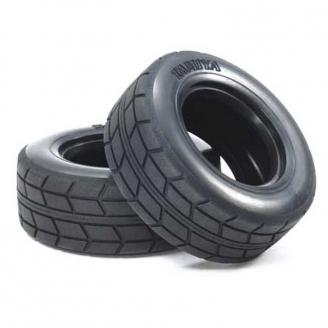 """2 pneus """"Racing"""" pour camion - 1/14 - TAMIYA 51589"""
