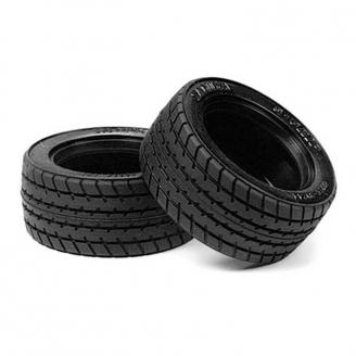 2 pneus à structure radiale 60D Super Grip - 1/10 - TAMIYA 53254