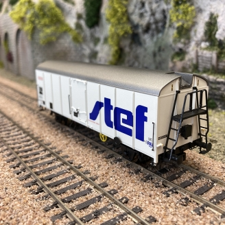 Wagon couvert frigo IF Stef Sncf, Ep IV-HO 1/87-BRAWA 48346