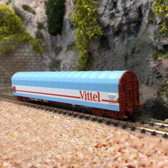 Wagon à bâche coulissante VITTEL, SNCF Ep IV-V -N 1/160- FLEISCHMANN 837711