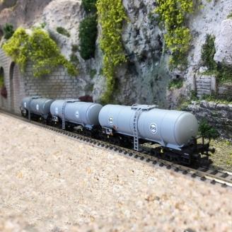 3 wagons-citernes, Eva DB Ep IV - N 1/160 - FLEISCHMANN 848029