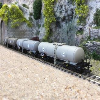 3 wagons-citernes, Eva DB Ep IV - N 1/160 - FLEISCHMANN 848028