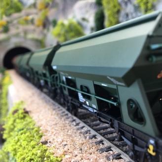 6 wagons-trémies Tds Ouvrants Ep VI - HO 1/87 - TRIX 24169