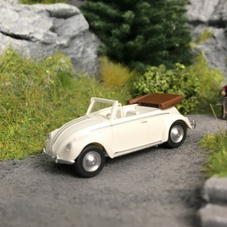 VW Coccinelle 1200 Cabriolet 1965 - HO 1/87 - WIKING 079405