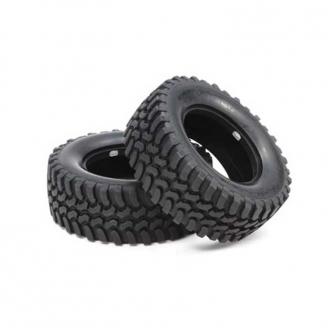 2 Pneus Mud Block soft CC01 - 1/10 - TAMIYA 54735