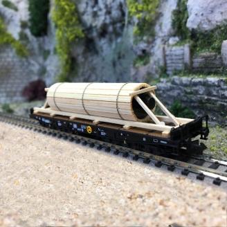 Wagon plat transport charges lourdes Ep IV DB - N 1/160 - FLEISCHMANN 845514