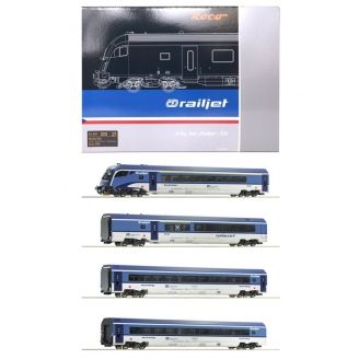 4 Voitures Railjet CD Ep VI-HO 1/87-ROCO 74064