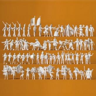 """68 personnages à peindre """"Carnaval""""-HO 1/87-PREISER 16355"""