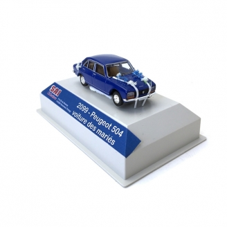 "Peugeot 504 Bleue ""Mariés""-HO 1/87-SAI 2099"