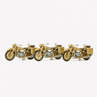 3 BMW R12 Reich Allemand 1939-45 Kit-HO 1/87-PREISER 16572