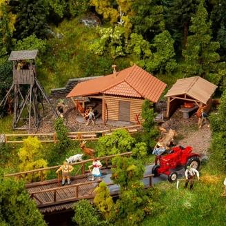 Pavillon de chasse avec Mirador-HO 1/87-FALLER 130637