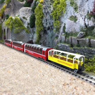 4 voitures Bernina Express RhB Ep VI -N-1/160-KATO 7074057