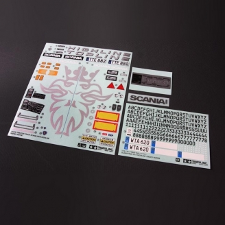 Planche de Stickers SCANIA R620 - 1/10 - TAMIYA 9495581