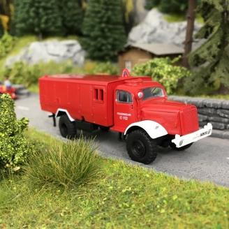 Camion Mercedes LG 315 LF Pompiers-HO 1/87-SCHUCO 452649600