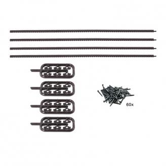 4 Crémaillères flexibles pour rails Roco Line-HO-1/87-ROCO 42602
