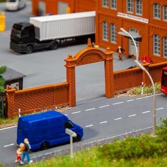 Mur d'enceinte d'usine - HO 1/87 - FALLER 272917