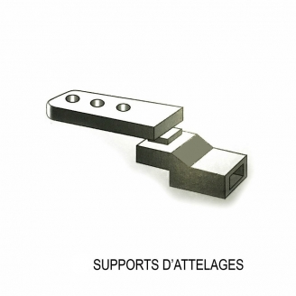 2 supports attelages d'adaptation NEM-1/87-RIBUTRAIN 85502