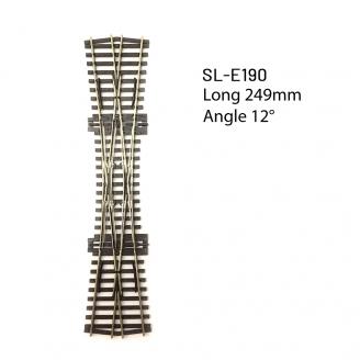 Traverse de jonction double TJD 249mm, 12°,  code 75  -HO 1/87-PECO SL190