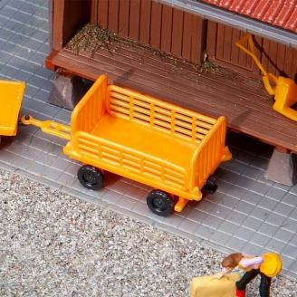 2 Chariots de quai, orange - HO 1/87 - FALLER 180991