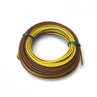 Câble Marron / Jaune 2 brins souple cuivre 5 m / 0.14 mm² - HERKAT 3631