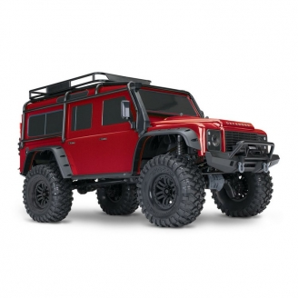 Land Rover Defender TRX-4 4WD Rouge-1/10-TRAXXAS TRX82056-4