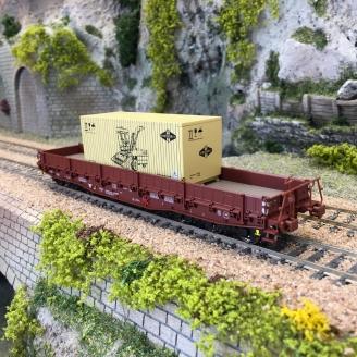 Wagon Samm-U 4818 transport lourd Ep IV DR  -HO 1/87-BRAWA 47571