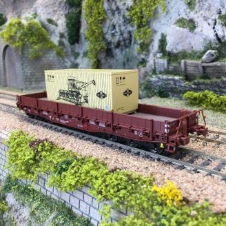 Wagon Samm-U 4818 transport lourd Ep IV DR  -HO 1/87-BRAWA 47570