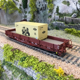 Wagon Samm-U 4818 transport lourd Ep IV DR  -HO 1/87-BRAWA 47572