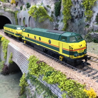 Locomotive S 55 double traction SNCB Ep V digital son 3R-HO 1/87-MARKLIN 37602