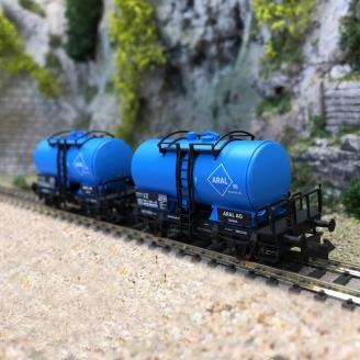 2 wagons-citernes ARAL, DB Ep IV - N 1/160 - FLEISCHMANN 841402