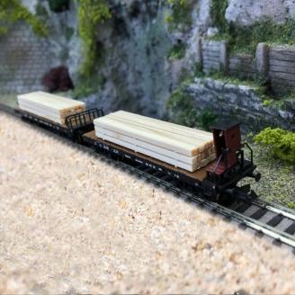 2 wagons à ranchers, DRG Ep II - N 1/160 - FLEISCHMANN 828507