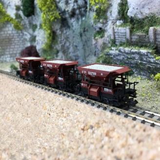 3 wagons à ballast, DRG Ep II - N 1/160 - FLEISCHMANN 822706