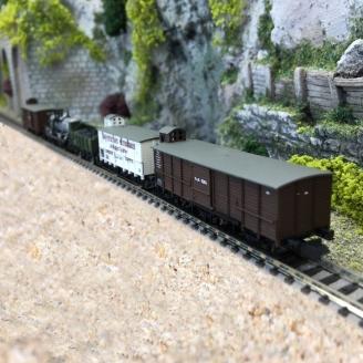 "Coffret de wagons de marchandises ""Pfalz"" Ep I-N 1/160-MINITRIX 15284"