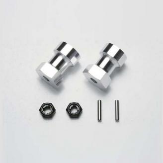 Adapteur aluminium jantes Frog - 1/10 - TAMIYA 53913