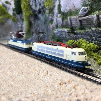 2 locomotives BR 120.1 et BR 103 DB Ep IV-Z 1/220-MARKLIN 88179