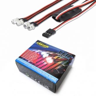 Kit d'éclairage LED 2 rouge + 2 blanc + télécommande - 1/10 - CARSON 500906239