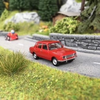 Wartburg 353 1966 Rouge -HO 1/87-HERPA 22903-005