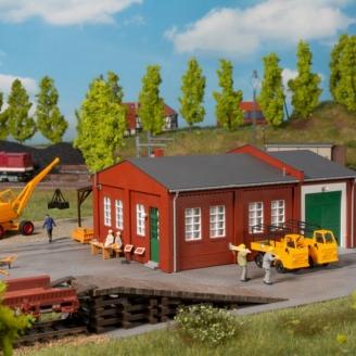Atelier Ferroviaire avec rampe-HO 1/87-AUHAGEN 11462