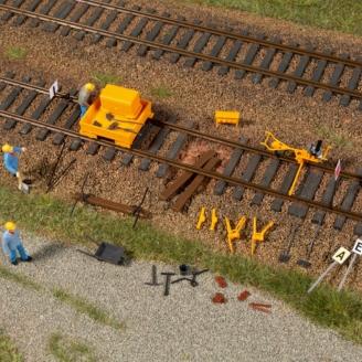 Set d'éléments pour travaux sur voies - HO 1/87 - AUHAGEN 41670
