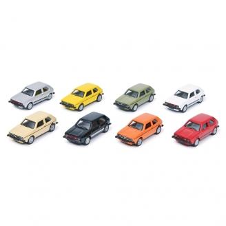 Coffret 8 VW Golf-HO 1/87-SCHUCO 452660300