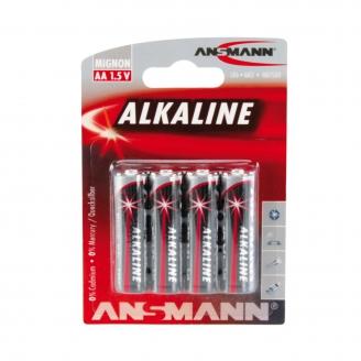 4 piles Alkaline LR6, AA, 1.5V - ANSMANN 500609043