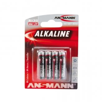 4 piles Alkaline LR03, AAA, 1.5V - ANSMANN 500609044