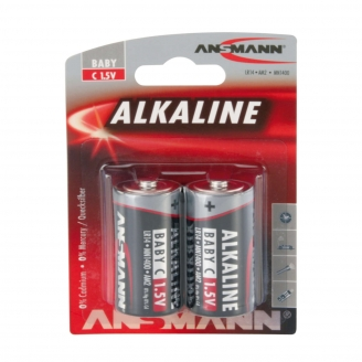 2 piles Alkaline LR14, C, 1.5V - ANSMANN 500609046