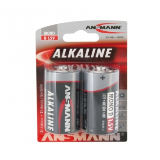 2 piles Alkaline LR20, D, 1.5V - ANSMANN 500609047